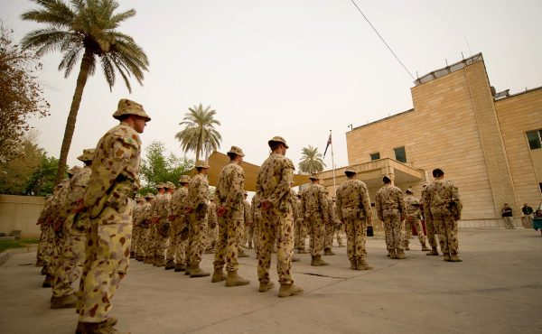 Australian troops medal parade