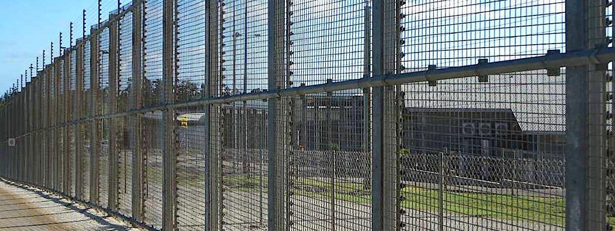 Christmas Island detention centre fence